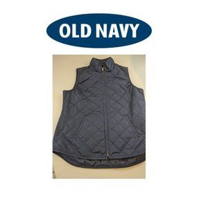 Old Navy blue quilted vest, SZ Lg